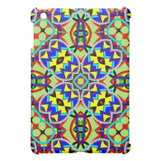 Kaleidoscope colorful abstract pattern iPad mini case