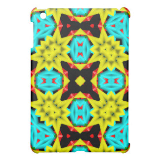 Kaleidoscope colorful abstract pattern case for the iPad mini