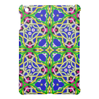 Kaleidoscope colorful abstract pattern cover for the iPad mini
