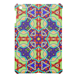 Kaleidoscope colorful abstract pattern iPad mini cases