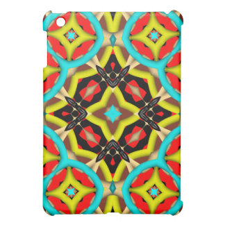 Kaleidoscope colorful abstract pattern iPad mini cover