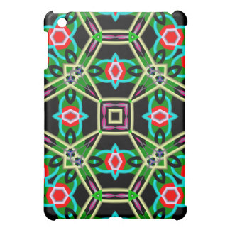Kaleidoscope colorful abstract pattern iPad mini covers