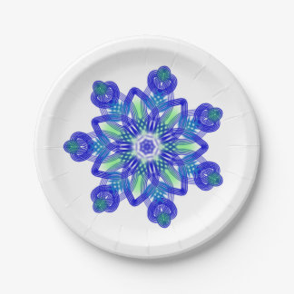 Kaleidoscope conflower star paper plate