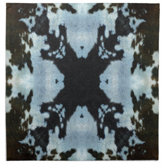 Kaleidoscope cow hide pattern printed napkin