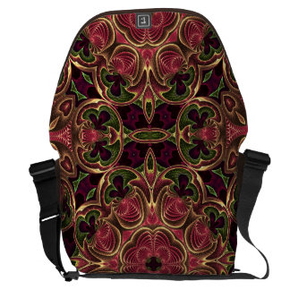 Kaleidoscope Cross Abstract Tapestry Pattern Messenger Bags