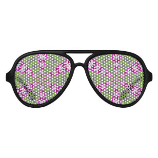 Kaleidoscope Dahlia Aviator Sunglasses