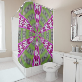 Kaleidoscope Dahlia Shower Curtain