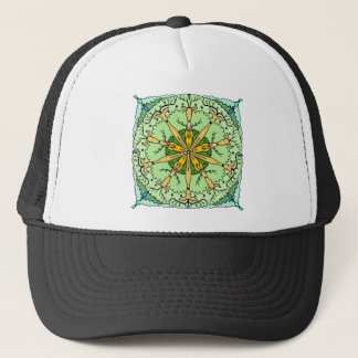 Kaleidoscope deer trucker hat