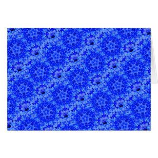 Kaleidoscope Design Blue Purple Floral Art Card