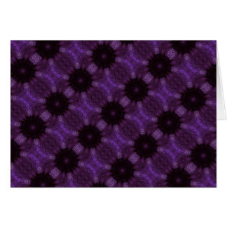 Kaleidoscope Design Chic Elegant Shiny Purple Card