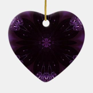Kaleidoscope Design Chic Elegant Shiny Purple Ceramic Heart Decoration