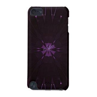 Kaleidoscope Design Chic Elegant Shiny Purple iPod Touch (5th Generation) Cases