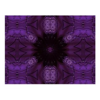 Kaleidoscope Design Chic Elegant Shiny Purple Postcard