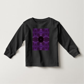 Kaleidoscope Design Chic Elegant Shiny Purple Toddler T-Shirt