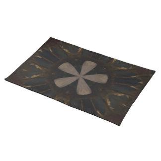 Kaleidoscope Design Dark Brown Rustic Art Placemat