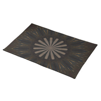 Kaleidoscope Design Dark Brown Rustic Floral Placemat