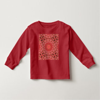 Kaleidoscope Design Floral Red Toddler T-Shirt