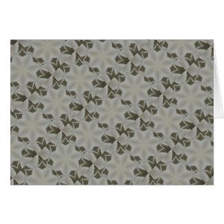 Kaleidoscope Design Flower White Gray Card