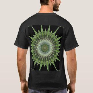 Kaleidoscope Design Green Black T-Shirt