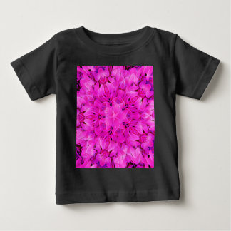 Kaleidoscope Design Hot Pink Floral Art Baby T-Shirt
