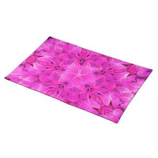 Kaleidoscope Design Hot Pink Floral Art Placemat