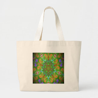 kaleidoscope design image tote bag