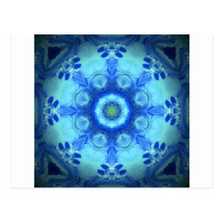 kaleidoscope design image-blue postcard