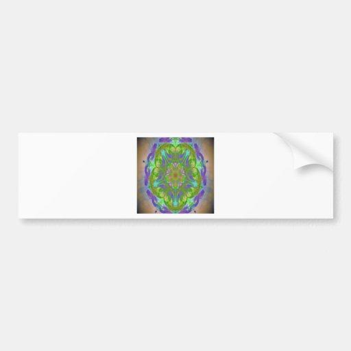 kaleidoscope design image bumper stickers