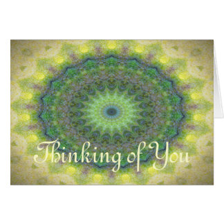 Kaleidoscope design image greeting card
