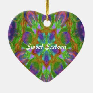kaleidoscope design image ceramic heart decoration