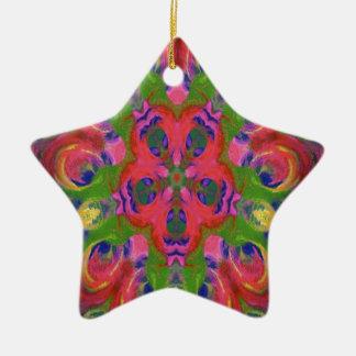 kaleidoscope design image ceramic star decoration
