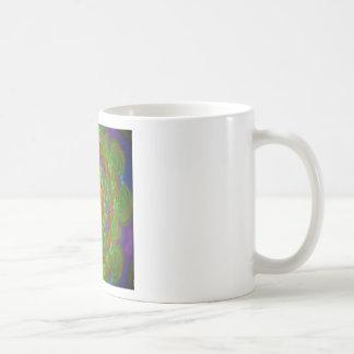 kaleidoscope design image green mugs