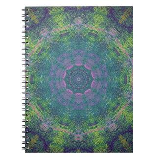 Kaleidoscope design image spiral notebooks