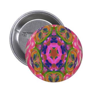 Kaleidoscope design image pinback button