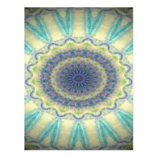 Kaleidoscope design image postcard