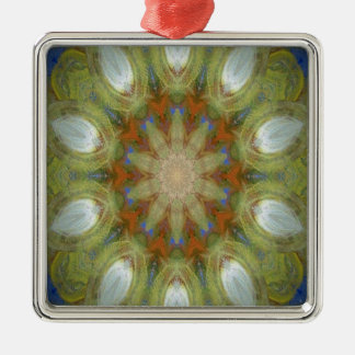 Kaleidoscope design image Silver-Colored square decoration