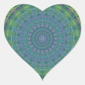 Kaleidoscope design image heart stickers