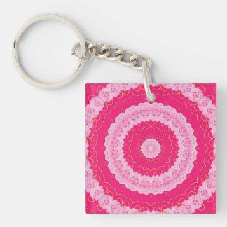 Kaleidoscope Design Keychain Single-Sided Square Acrylic Keychain