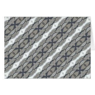 Kaleidoscope Design Light and Dark Gray Pattern Card