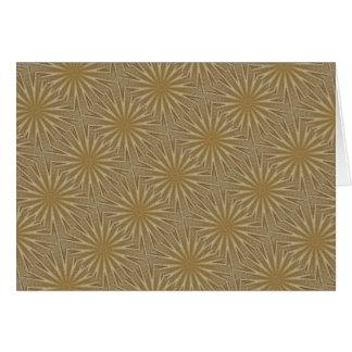 Kaleidoscope Design Light Brown Rustic Floral Card