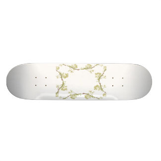 Kaleidoscope design made with flower stems skateboard