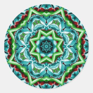 Kaleidoscope Design No.T4R Sticker