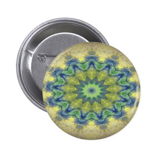 Kaleidoscope design product image-made with love pinback button