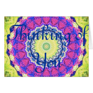 Kaleidoscope design product image-made with love greeting card