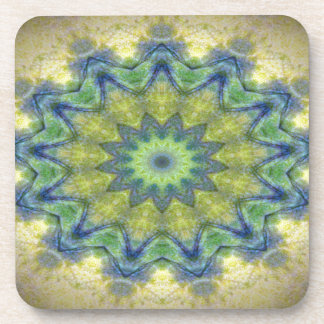Kaleidoscope design product image-made with love drink coasters