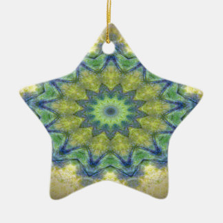 Kaleidoscope design product image-made with love ceramic star decoration