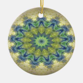 Kaleidoscope design product image-made with love round ceramic decoration