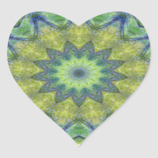 Kaleidoscope design product image-made with love heart sticker