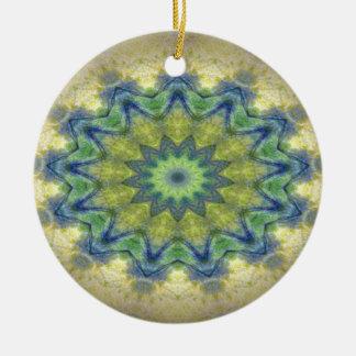 Kaleidoscope design product image-made with love round ceramic decoration