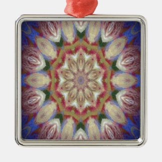 Kaleidoscope design product image-made with love Silver-Colored square decoration